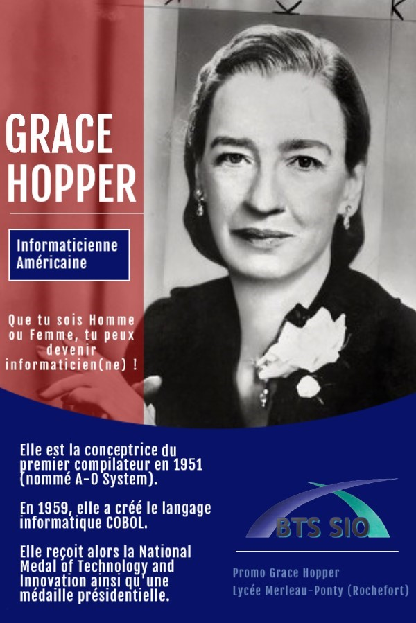 Affiche de la promotion 2022 Grace Hooper